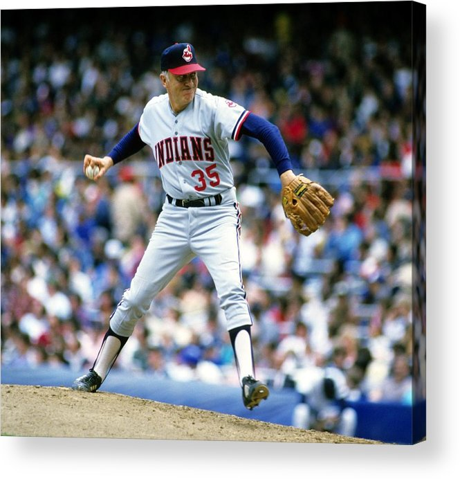 1980-1989 Acrylic Print featuring the photograph Phil Niekro by Ronald C. Modra/sports Imagery
