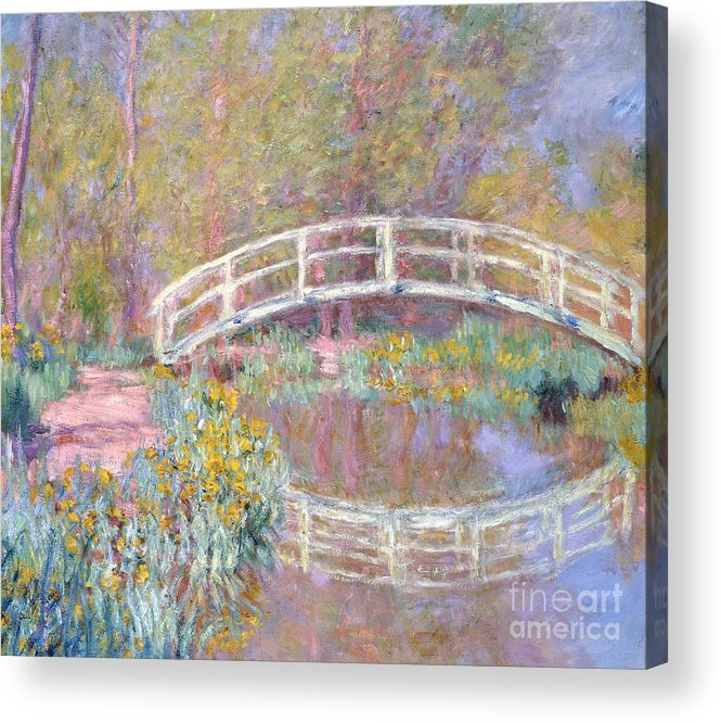 Monet Acrylic Print featuring the painting Bridge in Monet's Garden by Claude Monet