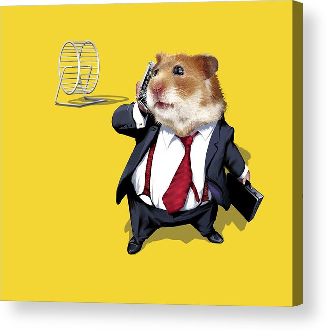 Hamster Wheel Acrylic Print featuring the photograph Business Lifestyle, Conceptual Artwork by Science Photo Library