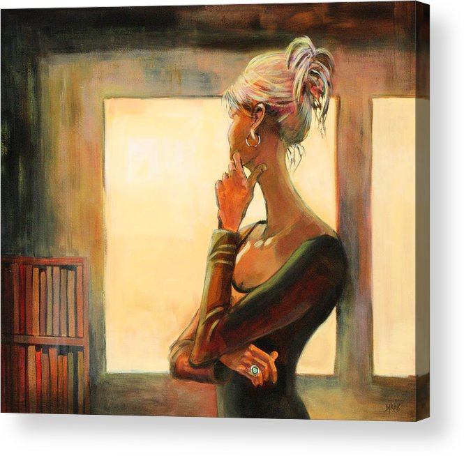 Woman Acrylic Print featuring the painting Daydreaming by Sue Darius