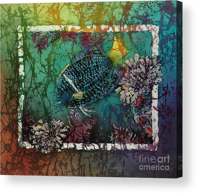 King Angelfish Acrylic Print featuring the painting King Angelfish by Sue Duda