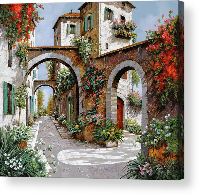 Arches Acrylic Print featuring the painting Tre Archi by Guido Borelli