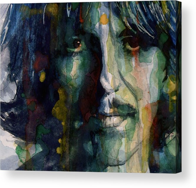 George Harrison Acrylic Print featuring the painting Within You Without You by Paul Lovering