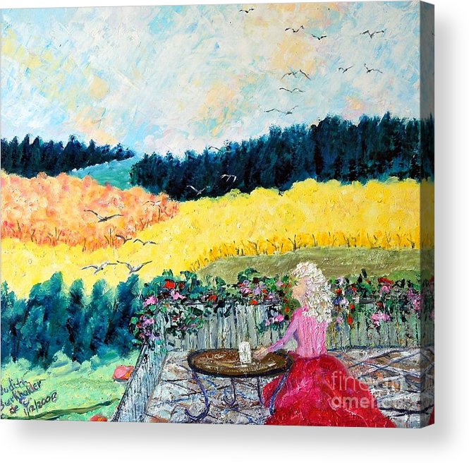 Autumn Acrylic Print featuring the painting Autumn Flights of Fancy by Judith Espinoza
