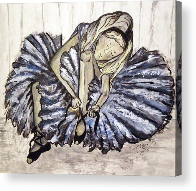Ballet Acrylic Print featuring the painting Ballerina Girl by Tammera Malicki-Wong
