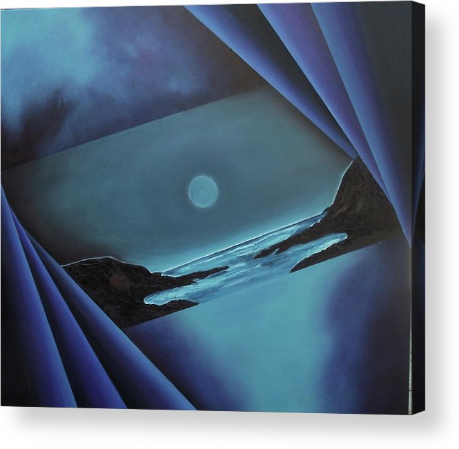 Acrylic Print featuring the painting Flowing Through by Ara Elena
