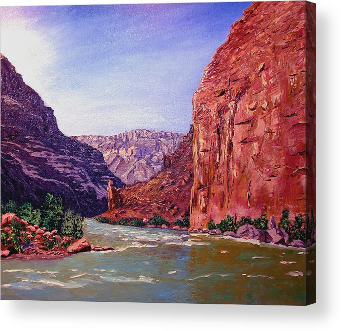 Grand Acrylic Print featuring the painting Grand Canyon I by Stan Hamilton