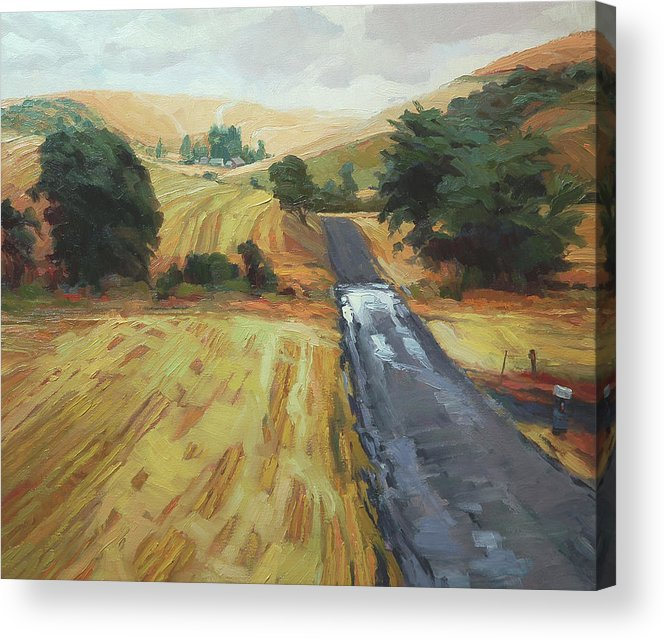 Country Acrylic Print featuring the painting After the Harvest Rain by Steve Henderson