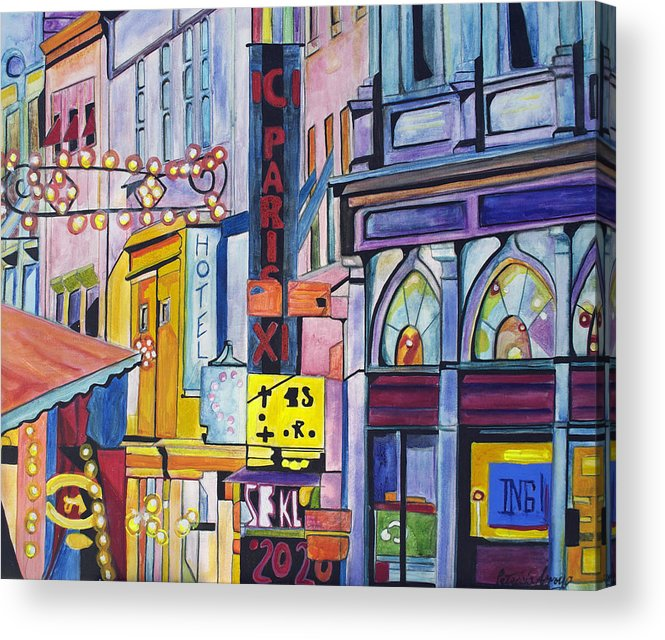 Cityscape Acrylic Print featuring the painting Colors of Paris by Patricia Arroyo
