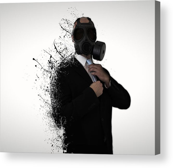 Gas Acrylic Print featuring the photograph Dissolution of man by Nicklas Gustafsson