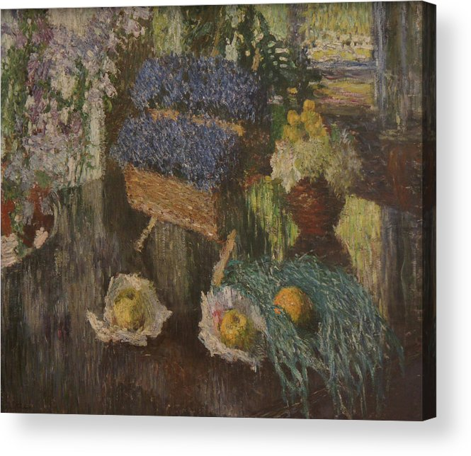 Russian Impressionism Acrylic Print featuring the painting Flowers and Fruits by Igor Grabar