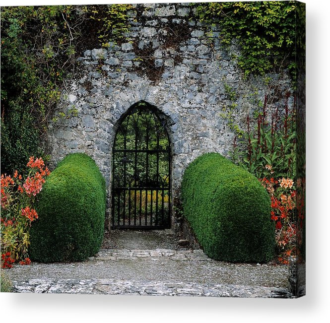 Architecture Acrylic Print featuring the photograph Gothic Entrance Gate, Walled Garden by The Irish Image Collection