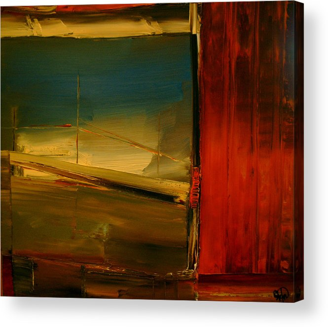 Abstract Acrylic Print featuring the painting Just Passing Through by Stefan Fiedorowicz
