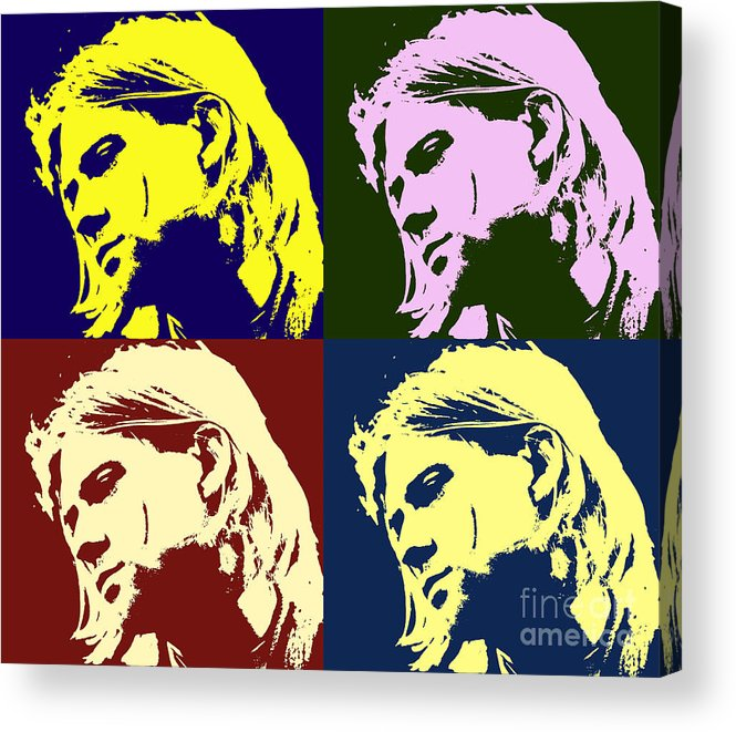 KURT COBAIN POP ART CANVAS PRINT PICTURE DESIGN VARIETY OF SIZES AVAILABLE