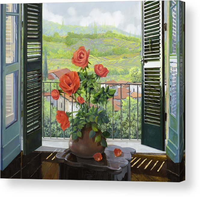 Landscape Acrylic Print featuring the painting Le Persiane Sulla Valle by Guido Borelli