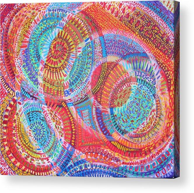 Geometric Acrylic Print featuring the painting Microcosm VIII by Rollin Kocsis