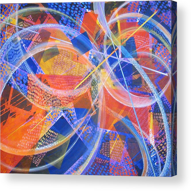 Non-representational Acrylic Print featuring the painting Microcosm XIII by Rollin Kocsis