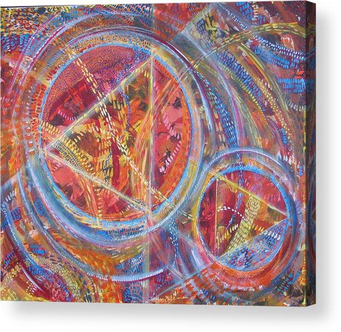 Geometric Acrylic Print featuring the painting Microcosm XVI by Rollin Kocsis