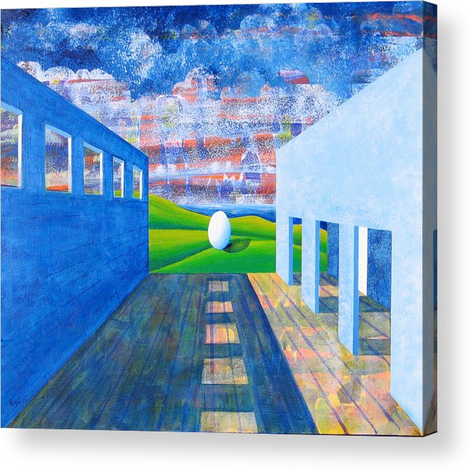 Surrealism Acrylic Print featuring the painting Mystery And Memory by Rollin Kocsis