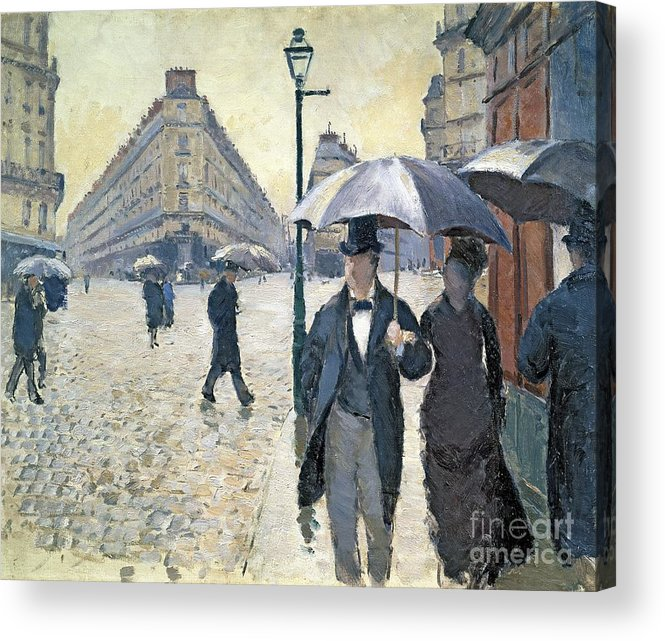 Sketch Acrylic Print featuring the painting Paris a Rainy Day by Gustave Caillebotte