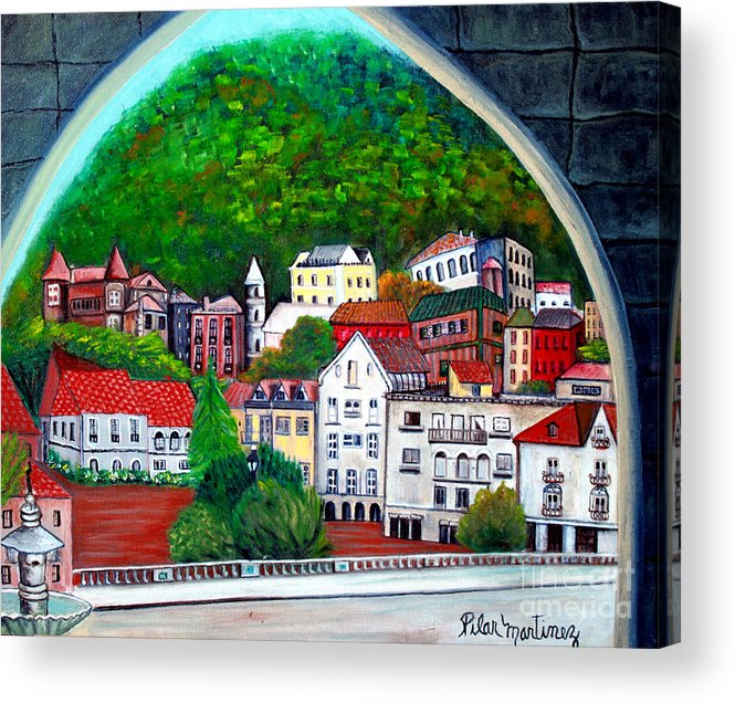 Town Acrylic Print featuring the painting Portugal by Pilar Martinez-Byrne