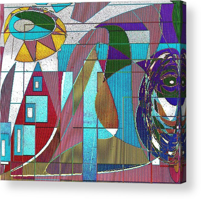 Purple Acrylic Print featuring the digital art Purple and Blue by Ian MacDonald