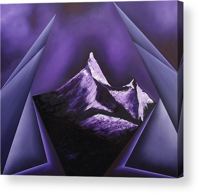 Acrylic Print featuring the painting Serenity with silent partner by Ara Elena