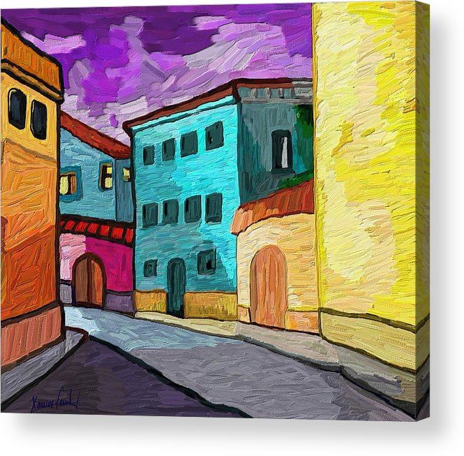 Figurative Acrylic Print featuring the painting Tarraco by Xavier Ferrer