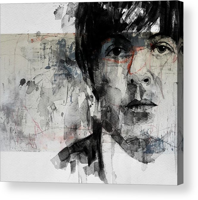 Paul Mccartney Acrylic Print featuring the mixed media The Long And Winding Road by Paul Lovering