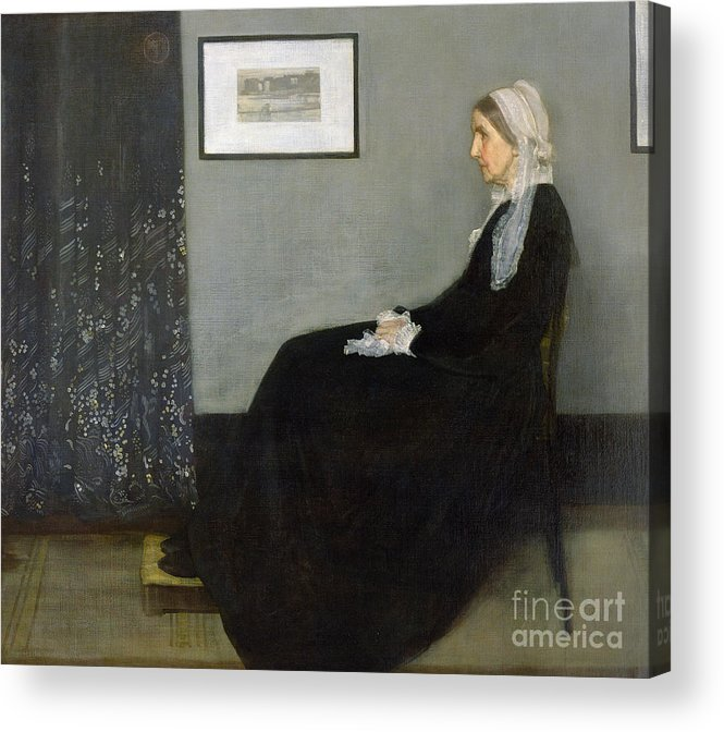 Whistlers Mother Acrylic Print featuring the painting Whistlers Mother by James Abbott McNeill Whistler