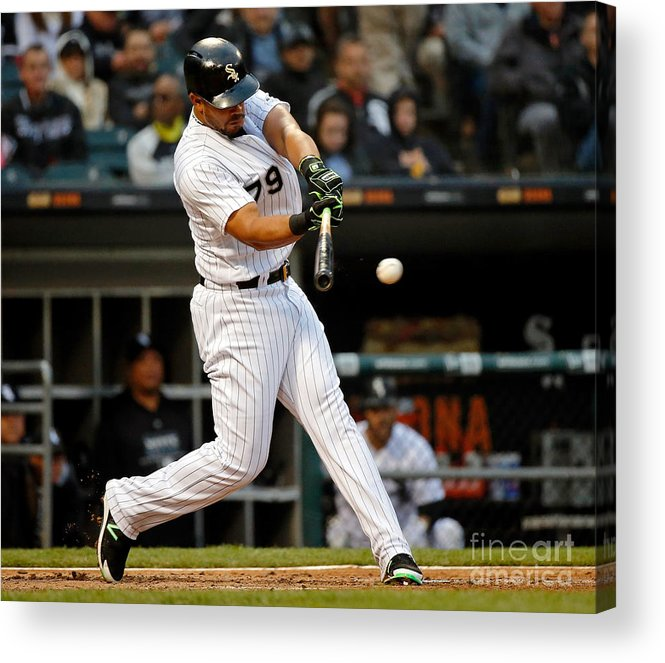 People Acrylic Print featuring the photograph Texas Rangers V Chicago White Sox by Jon Durr