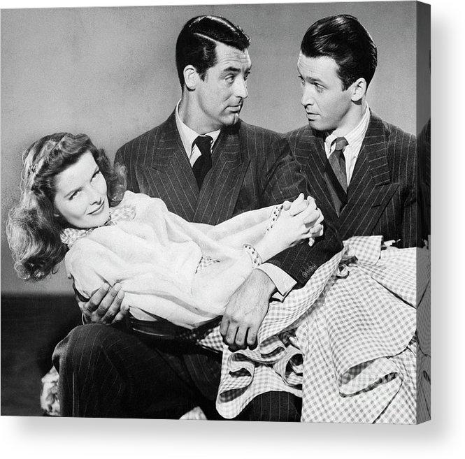 Jimmy Stewart Acrylic Print featuring the photograph Cary Grant, James Stewart by Bettmann