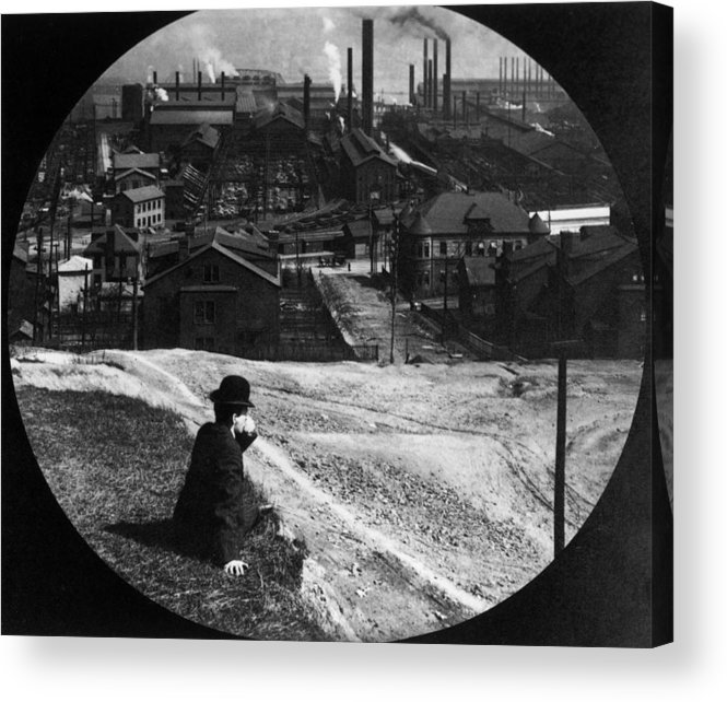 Working Acrylic Print featuring the photograph Homestead Steel Works by Hulton Archive