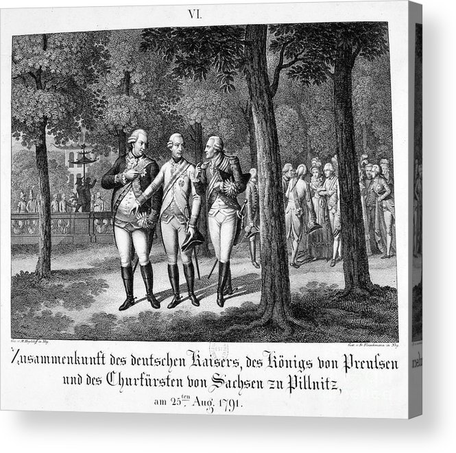 Engraving Acrylic Print featuring the drawing Meeting The German Emperor, 25th by Print Collector