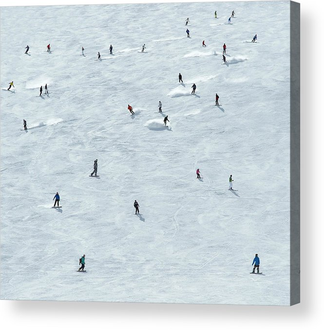 Skiing Acrylic Print featuring the photograph Skiing In Mayrhofen Austria by Mike Harrington