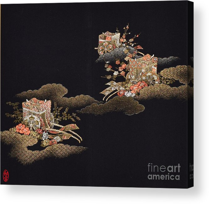 Acrylic Print featuring the digital art Spirit of Japan H29 by Miho Kanamori