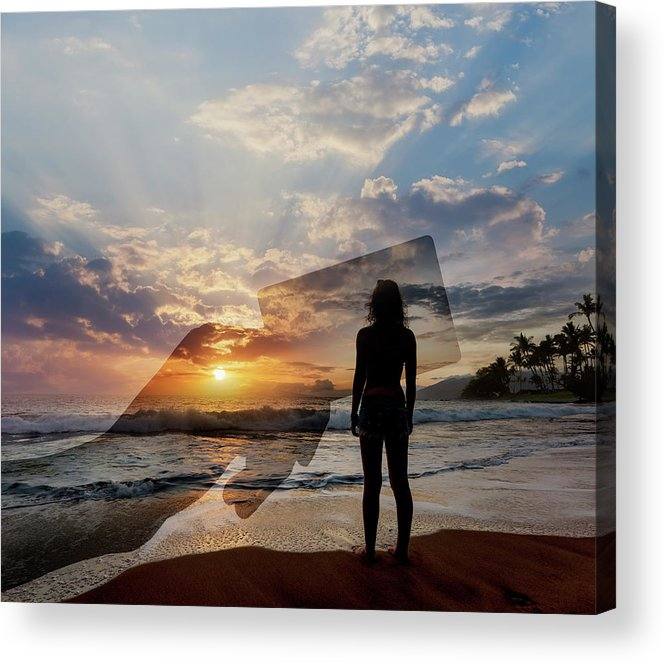 Tranquility Acrylic Print featuring the photograph Tropical Vacation Solitude by John Lund