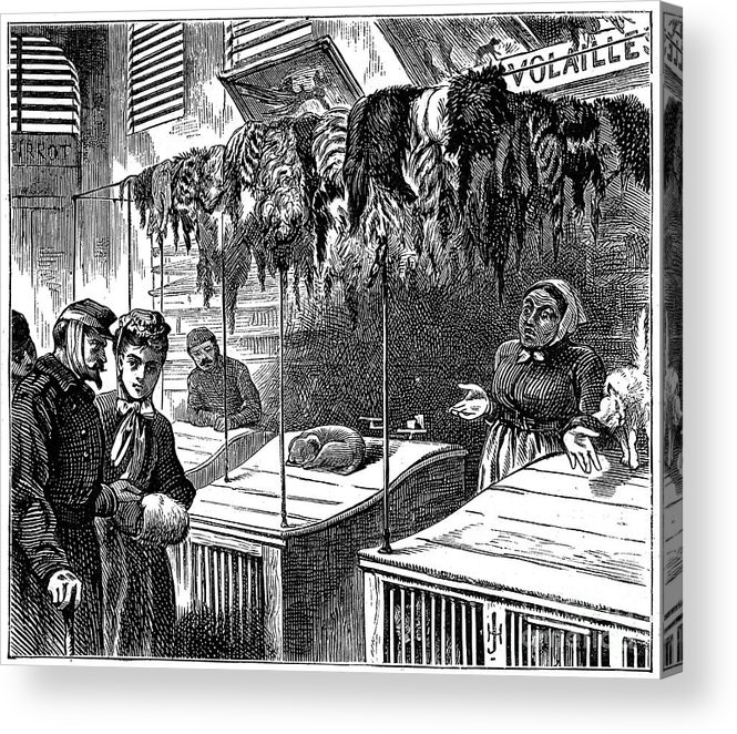 Engraving Acrylic Print featuring the drawing We Have No More Than That Sir, 1871 by Print Collector