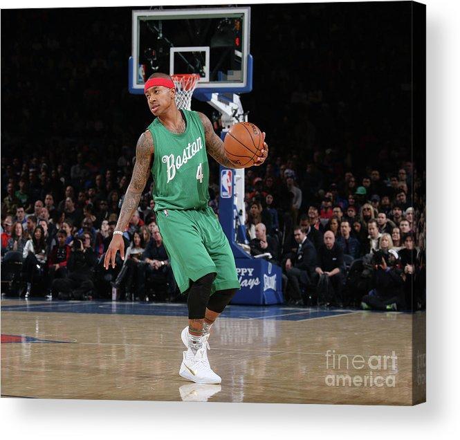 Nba Pro Basketball Acrylic Print featuring the photograph Isaiah Thomas by Nathaniel S. Butler
