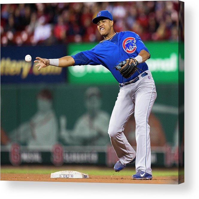 Double Play Acrylic Print featuring the photograph Starlin Castro by David Welker
