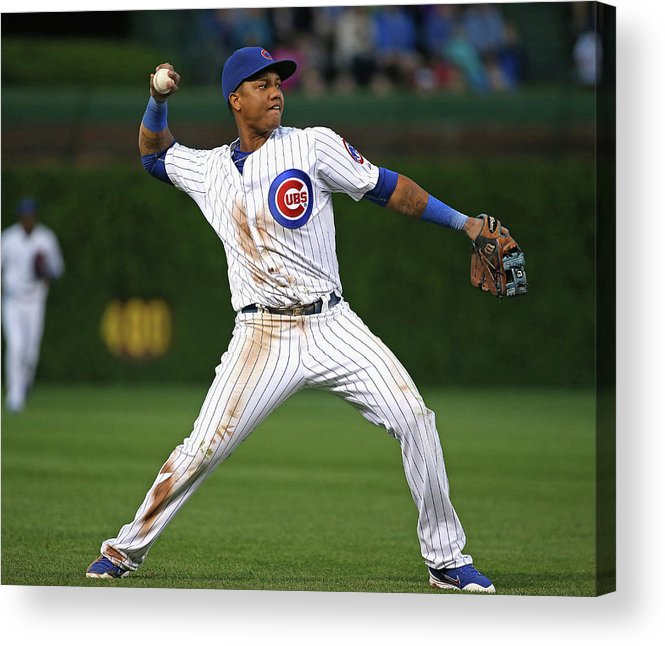 People Acrylic Print featuring the photograph Starlin Castro by Jonathan Daniel