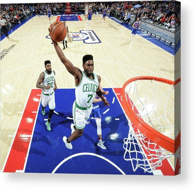 Nba Pro Basketball Acrylic Print featuring the photograph Jaylen Brown by Jesse D. Garrabrant