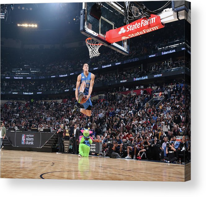 Event Acrylic Print featuring the photograph Aaron Gordon by Nathaniel S. Butler
