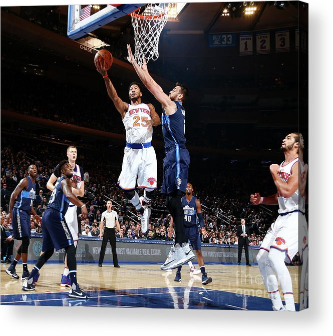 Nba Pro Basketball Acrylic Print featuring the photograph Derrick Rose by Nathaniel S. Butler