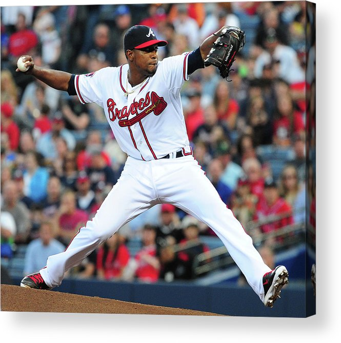 Atlanta Acrylic Print featuring the photograph Julio Teheran by Scott Cunningham