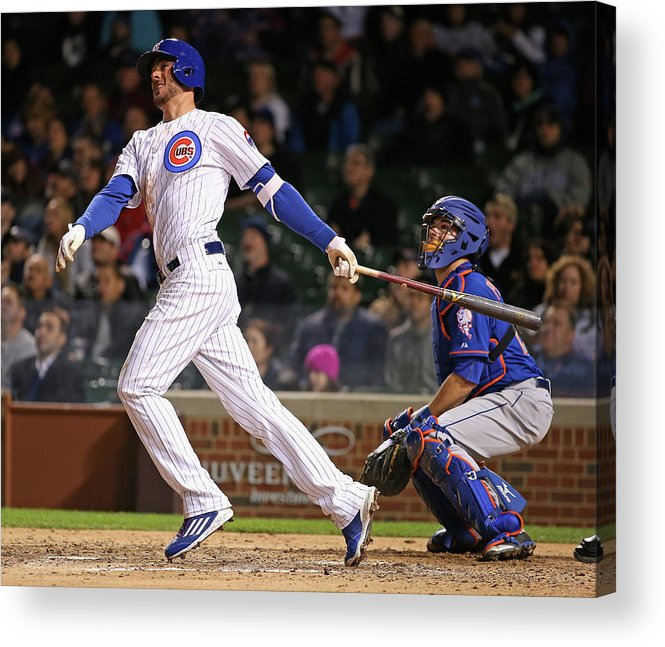 People Acrylic Print featuring the photograph Kris Bryant by Jonathan Daniel