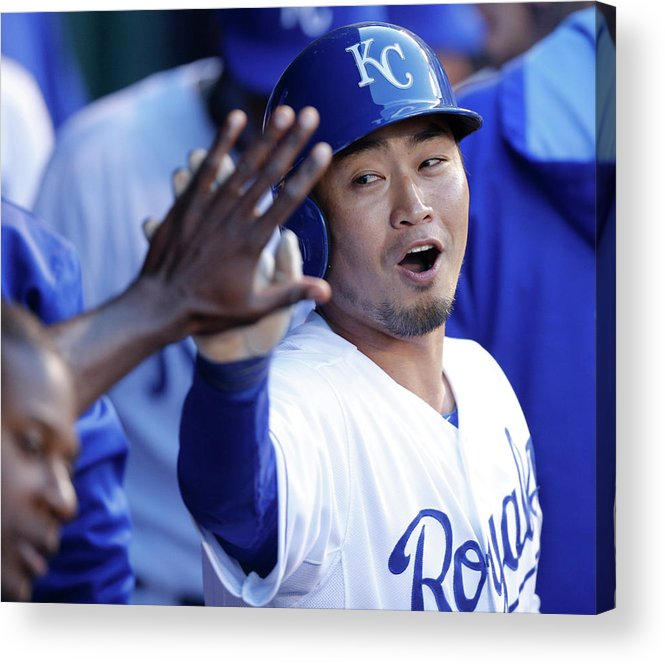 American League Baseball Acrylic Print featuring the photograph Eric Hosmer by Ed Zurga