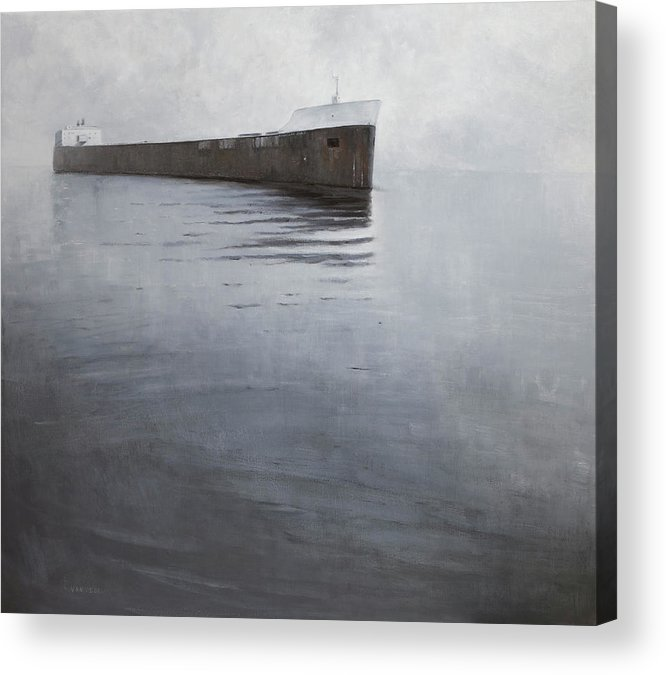 Acrylic Print featuring the painting Approach by Mary Jo Van Dell