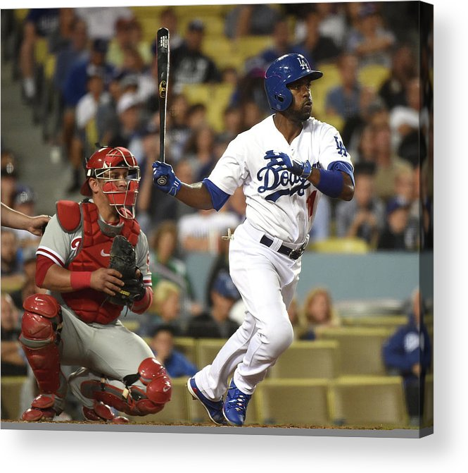 People Acrylic Print featuring the photograph Carlos Ruiz and Jimmy Rollins by Harry How