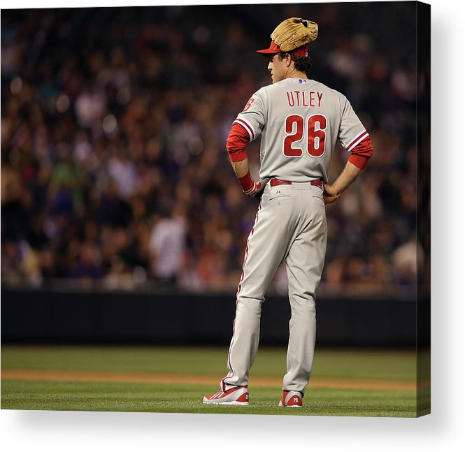 Baseball Pitcher Acrylic Print featuring the photograph Chase Utley by Doug Pensinger